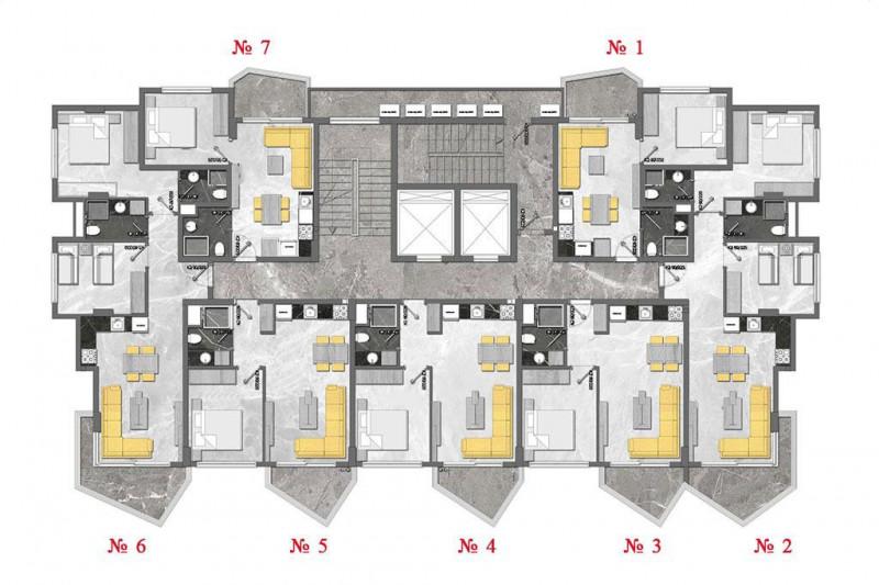 Apartment inTurkey, in Mahmutlar