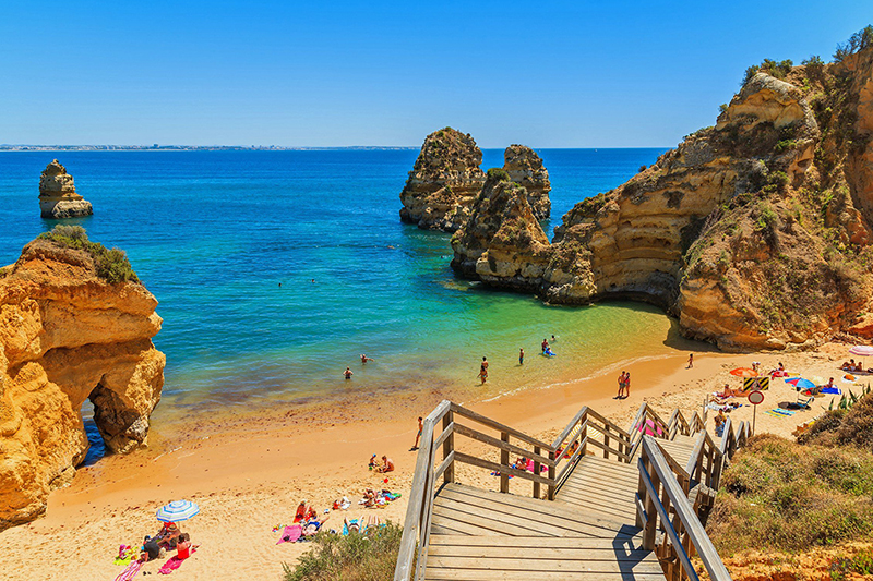 Tourist Life in the South of Portugal Shows Signs of Life